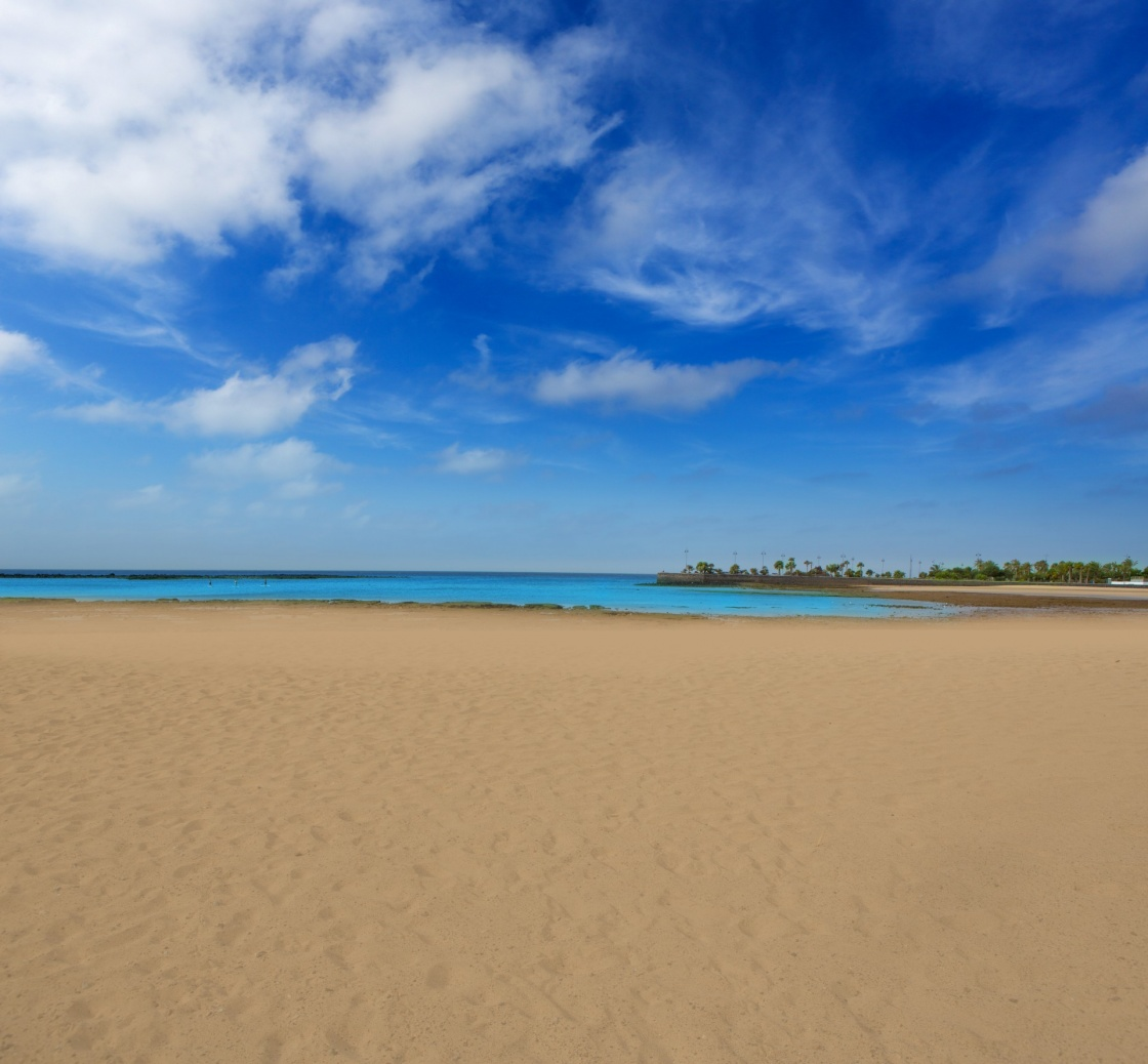 Arrecife Lanzarote Playa del Reducto beach in Canary Islands