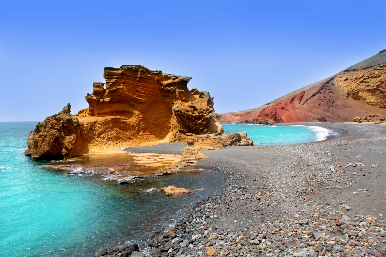 'Lanzarote El Golfo Atlantic ocean near Lago de los Clicos in Canary Islands' - Lanzarote